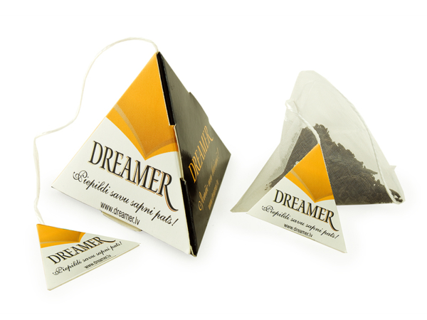 tea in a pyramid box