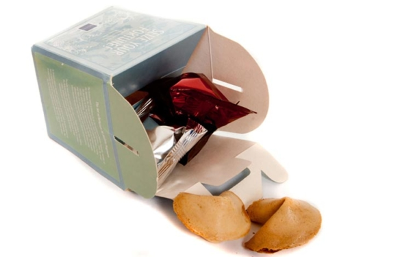 mixed proverb fortune cookies in a box