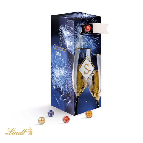 lindt tower advent calendar with mini choco balls